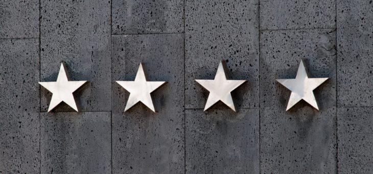 Gwiazdki hotelowe 5-cio stopniowa skala